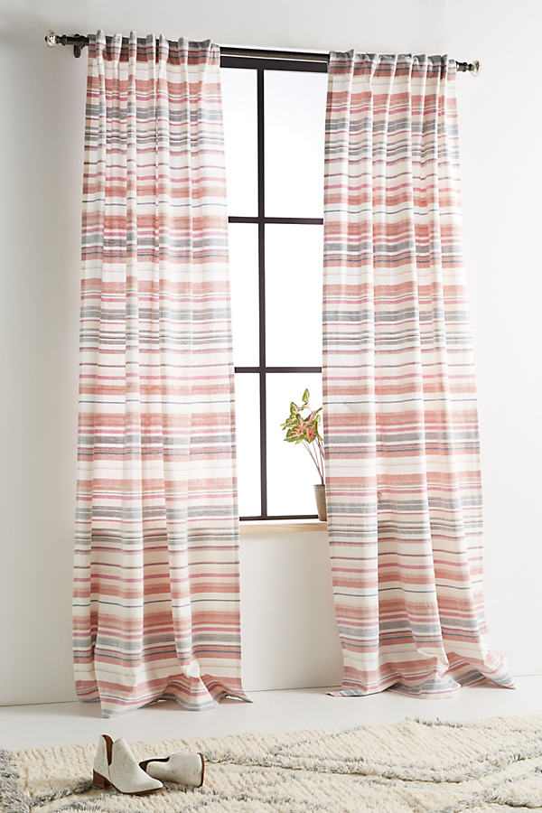 Woven Cora Curtain - Assorted, Size 50 X 84
