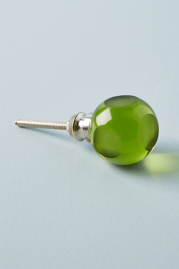 Jetti Glass Knob - Green