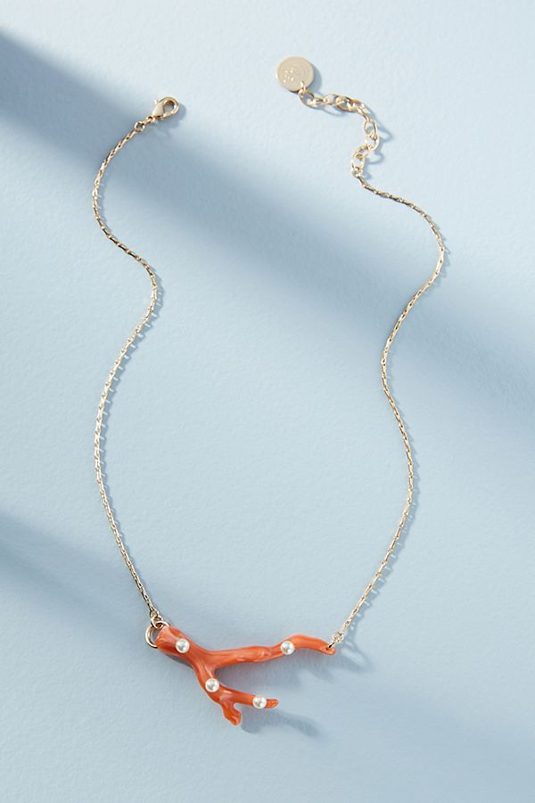Coral Reef Statement Necklace | Anthropologie