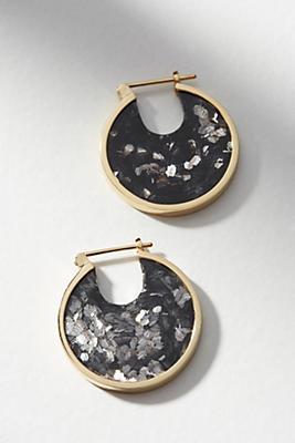 Anthropologie Petite Solar Eclipse Hoop Earrings sd2y3D