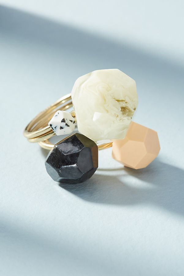 Resin Ring Set | Anthropologie