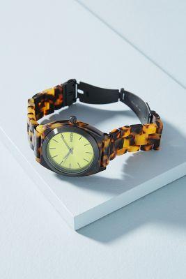 Nixon   Nixon Citron Tortoise Watch  -    DARK YELLOW