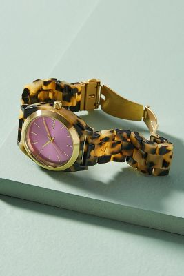 Nixon   Nixon Pink Tortoise Watch  -    PINK