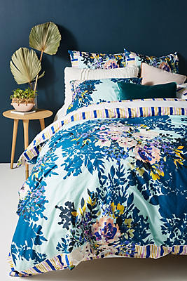 Slide View: 1: Jeweled Garden Duvet Cover