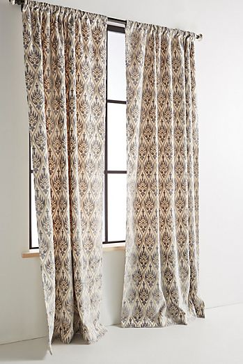 Patterned Printed Embroidered Curtains