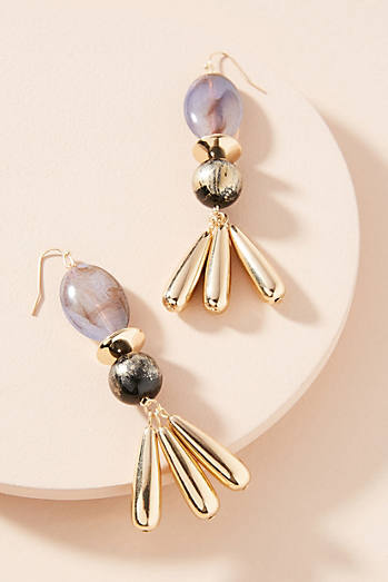 Anthropologie Tahoe Raffia Drop Earrings TCFFf931a