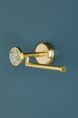 Abalone Toilet Roll Holder by Anthropologie