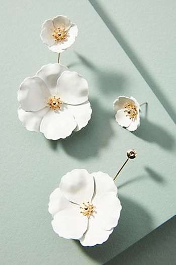earrings mini oscar impatiens de renta drop t at flower la nlpv forzieri