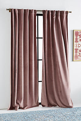 Slide View: 1: Velvet Louise Curtain