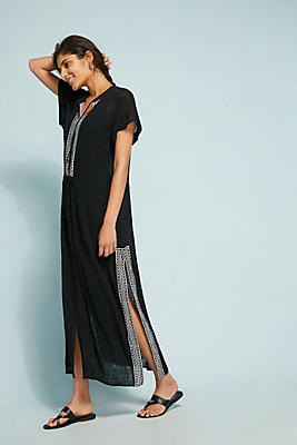 Slide View: 1: Seafolly Pennata Embroidered Maxi Dress