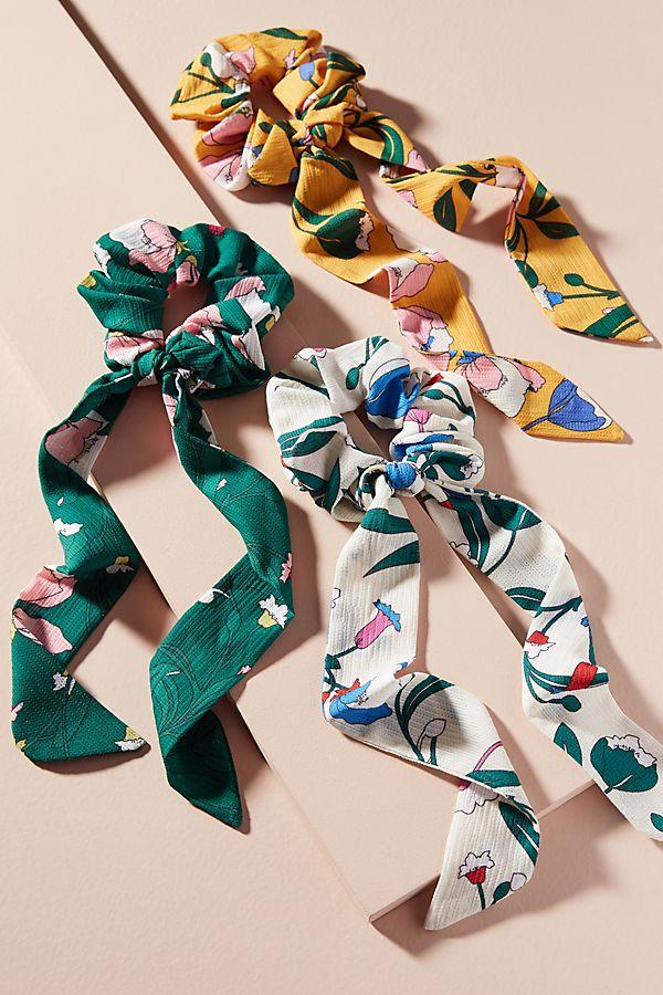 Slide View: 1: High Noon Scarf Hair Tie Set