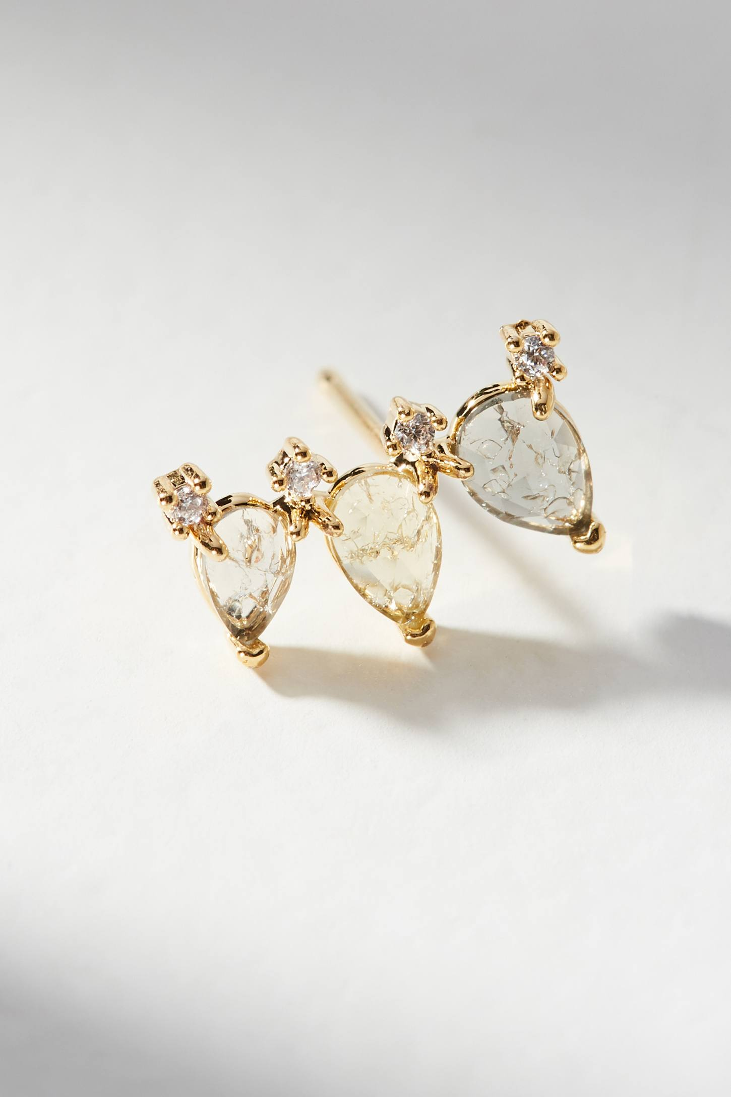 Anthropologie Trio Charm Climber Earrings