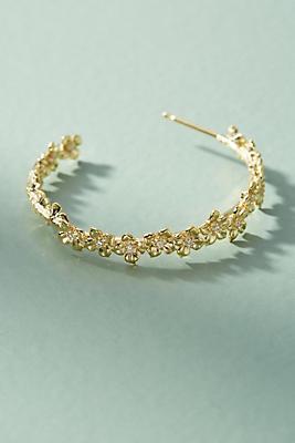 Anthropologie Floral Lattice Hoop Earrings 7JdQ9