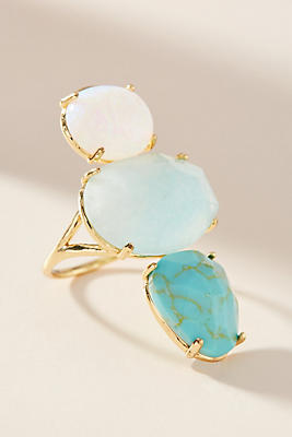 Anthropologie Crackled Stones Cocktail Ring eb1EVlh9