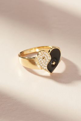Yin + Yang Ring by Anthropologie
