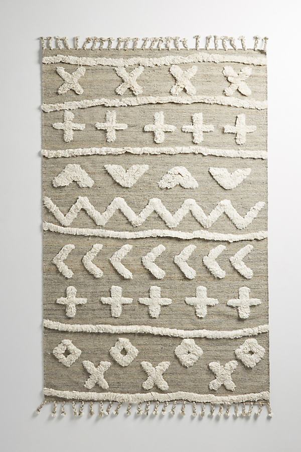 Tufted Minna Rug - Grey, Size 3 X 5