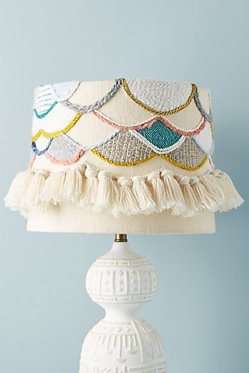 scalloped knit lamp shade - Unique Lamp Shades
