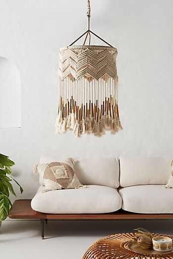 Unique chandeliers pendant lighting anthropologie lana macrame pendant aloadofball Gallery