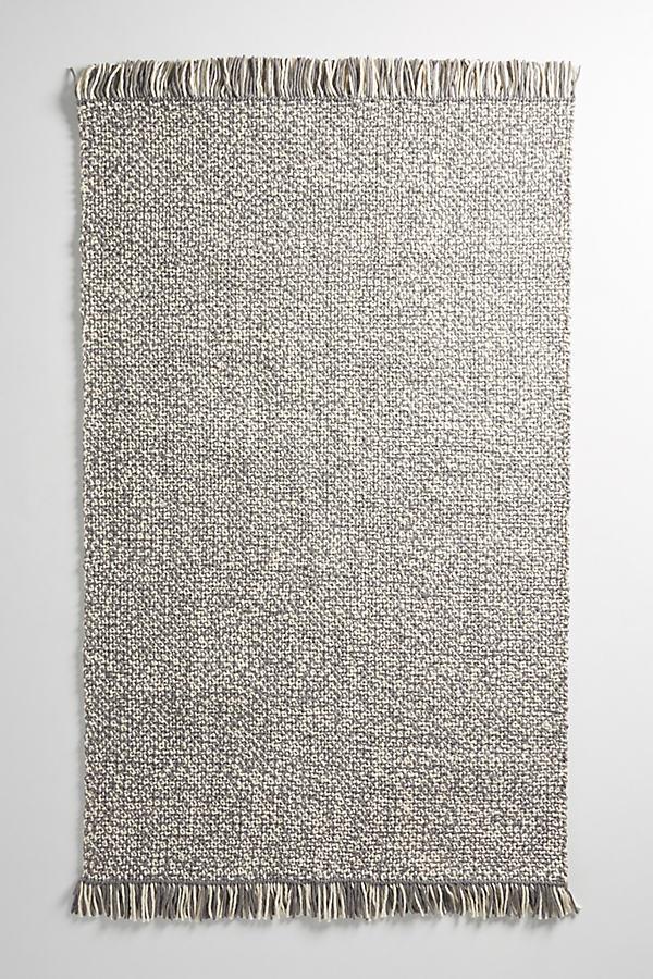 Fringed Kay Rug - Grey, Size 2 X 3