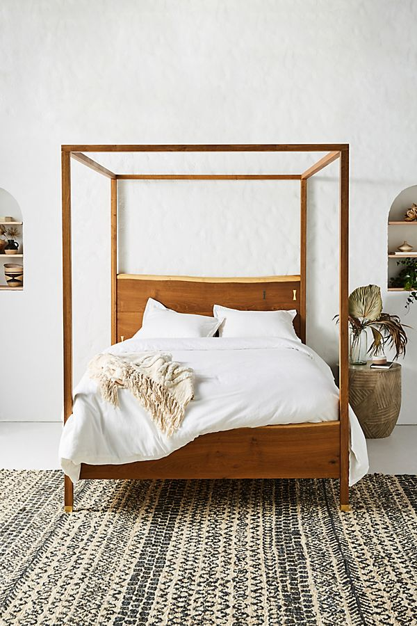 Slide View 1 Prana Live Edge Four Poster Bed