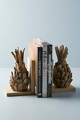 Slide View: 1: Driftwood Pineapple Bookends