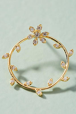 Anthropologie Floral Wreath Front-Back Earrings BuaINK