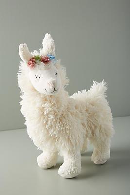 Slide View: 1: Llama Plush Toy