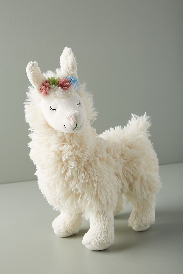 Slide View: 1: Llama Plush Toy