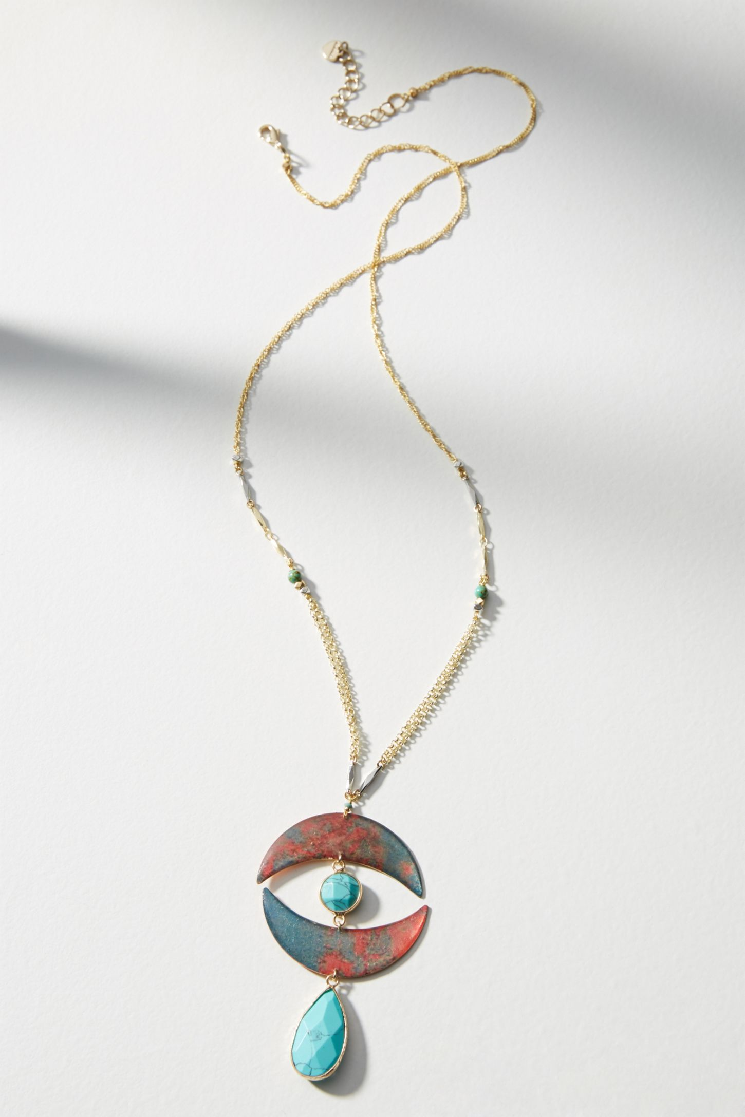 necklace eye gold pendant evil