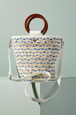 Gracelyn Straw Tote Bag  -    LIGHT GREY