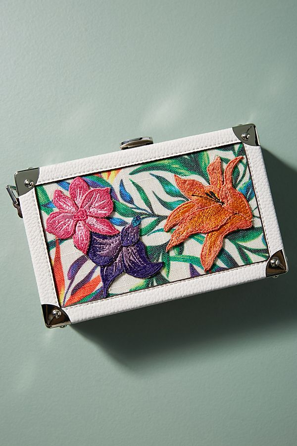 Tropical Hardcase Clutch | Anthropologie