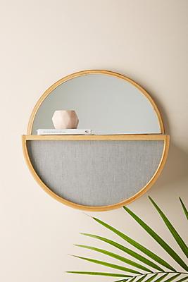 Slide View: 1: Lorfa Round Mirror