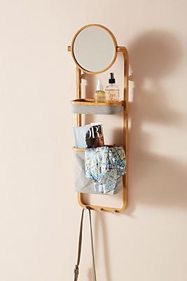 Slide View: 1: Vanity Storage Wall Shelf