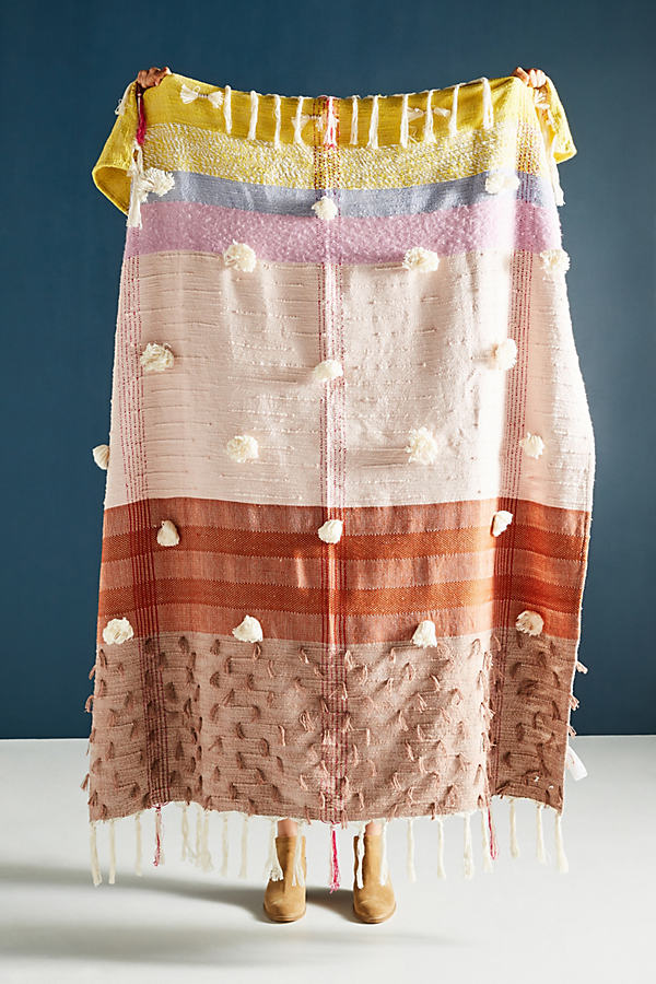 All Roads Woven Baja Throw Blanket - Pink