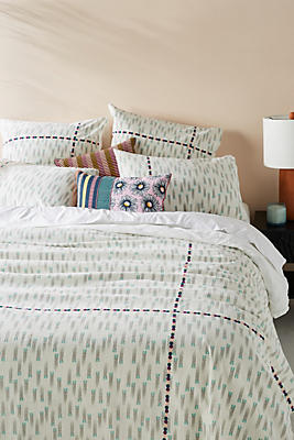 Slide View: 1: SUNO for Anthropologie Embroidered Catalan Duvet Cover