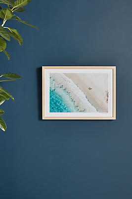 Slide View: 1: Grand Saline Beach, St. Barths by Gray Malin Wall Art