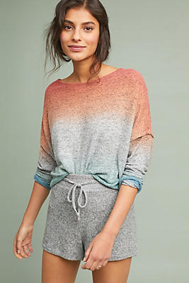 Slide View: 1: Weekend Brushed Fleece Pullover