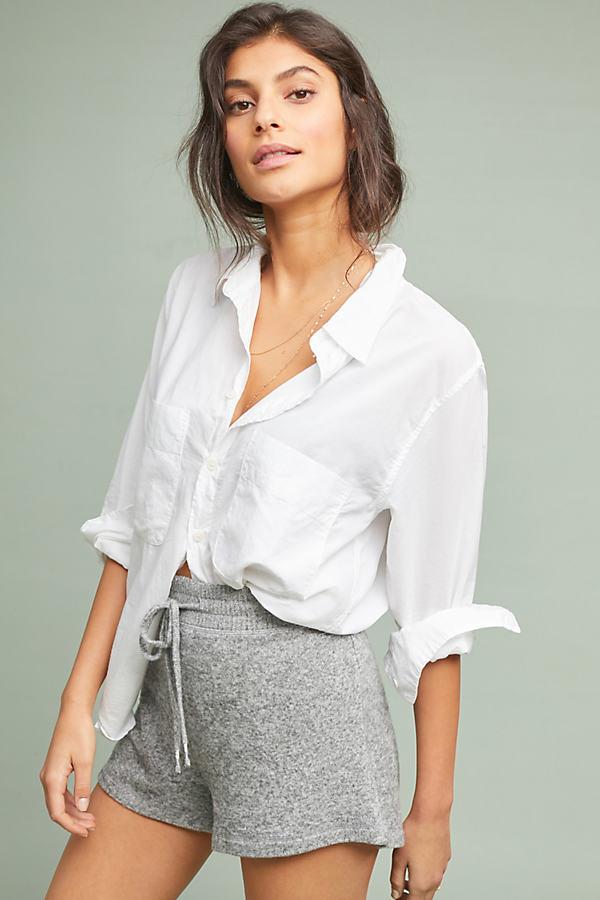 Vacation Brushed-Fleece Shorts - Grey, Size Xl