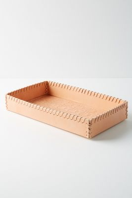 Stamped Leather Tray by Anthropologie