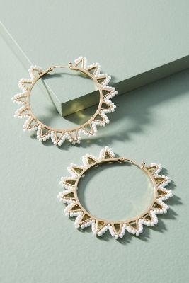 Zig Zag Hoop Earrings by Anthropologie