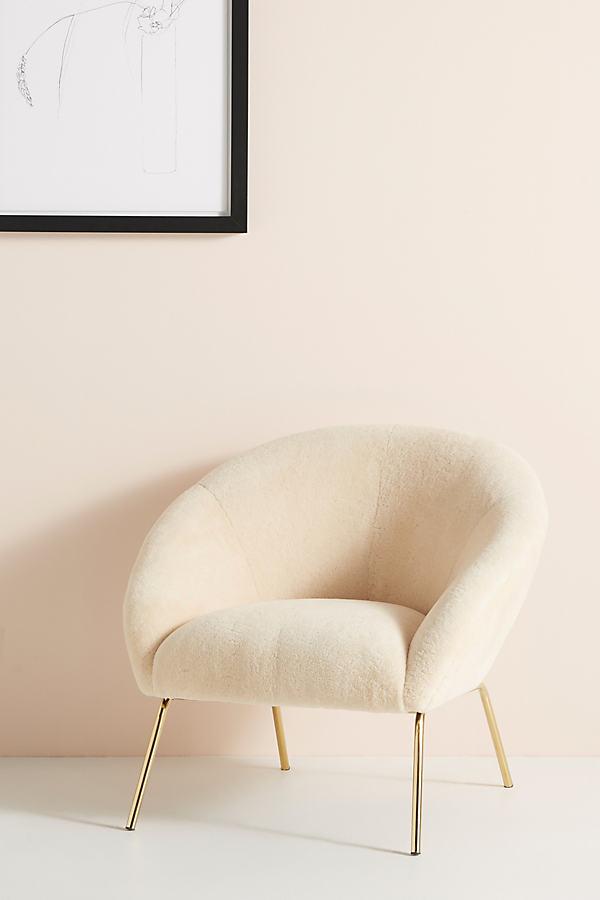 Wool Hillside Occasional Chair - Beige