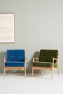 Slide View: 2: Velvet Haverhill Chair