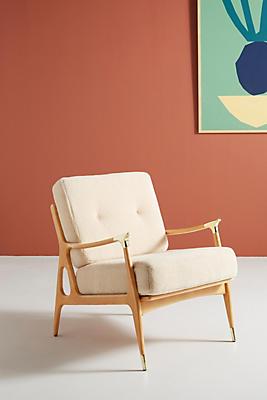 Slide View: 1: Wool Haverhill Chair