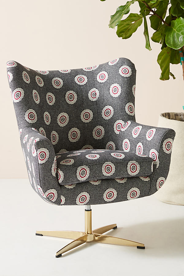 SUNO for Anthropologie Adavale Swivel Chair - Assorted