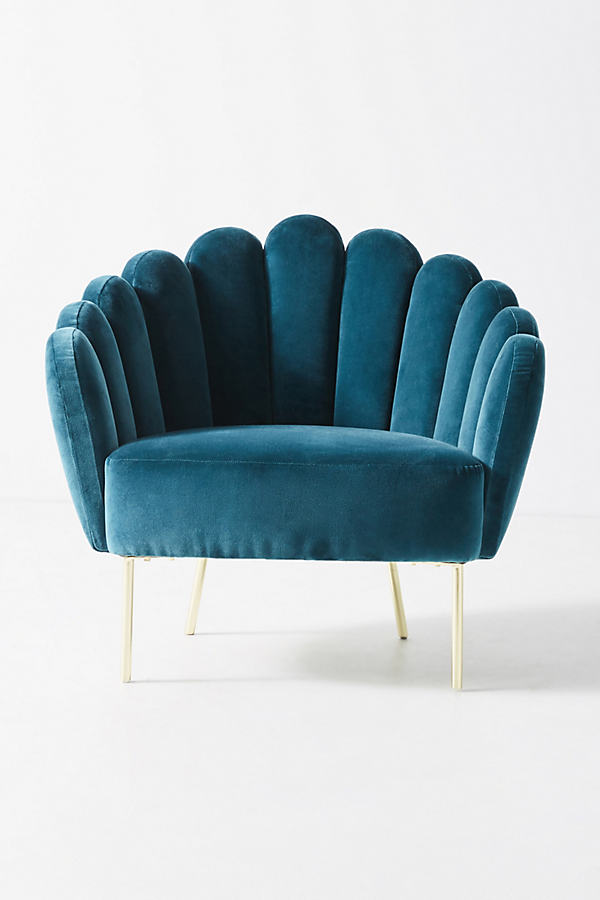 Bethan Gray Feathered Occasional Chair - Blue