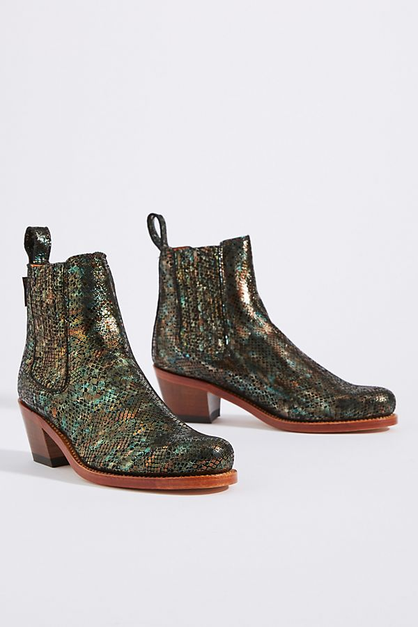 Slide View: 2: Penelope Chilvers Salva Metallic Leather Boots