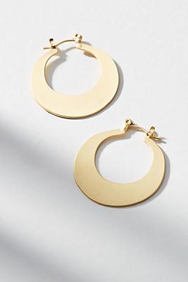 Anthropologie Crescent Mini Hoop Earrings bcDNc7ANbn