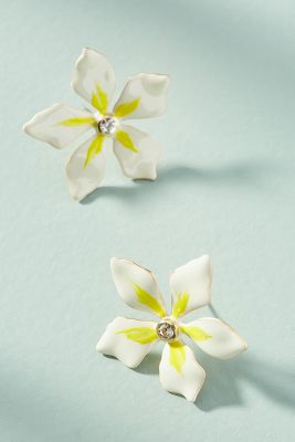 Petite Plumeria Post Earrings by Anthropologie