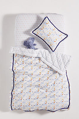 Slide View: 1: Yelena Bryksenkova Unicorn Meadow Kids Quilt