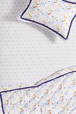 Slide View: 1: Yelena Bryksenkova Unicorn Meadow Crib Sheet